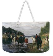 Rubicon. Crossing The River By Denis Davydov Squadron. 1812. Weekender Tote Bag