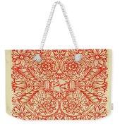 Rubino Red Floral Weekender Tote Bag