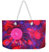 Ruby Blue Rays Weekender Tote Bag