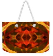 Ruby Crystal Pattern Weekender Tote Bag