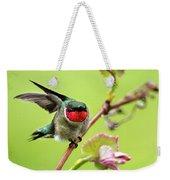 Ruby Garden Hummingbird Weekender Tote Bag