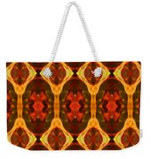 Ruby Glow Pattern Weekender Tote Bag by Amy Vangsgard