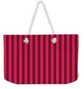 Ruby Red Striped Pattern Design Weekender Tote Bag