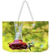 Ruby-throated Hummingbird 2 - Impasto Weekender Tote Bag