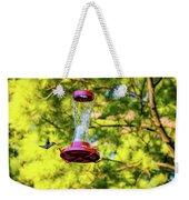 Ruby-throated Hummingbird 3 Weekender Tote Bag