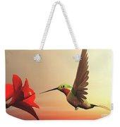 Ruby-throated Hummingbird - 3d Render Weekender Tote Bag
