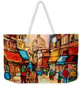 Rue St Jacques Old Montreal Streets  Weekender Tote Bag