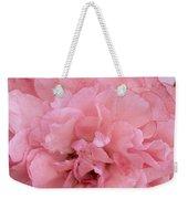 Ruffled Pink Rose Weekender Tote Bag