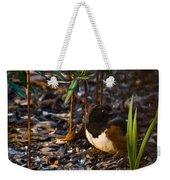 Rufous Sided Towhee At A Glance Weekender Tote Bag