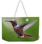 Rufus Hummingbird In Flight Weekender Tote Bag