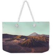 Rugged Mountainous Terrain Mount Bromo At Sunrise Weekender Tote Bag