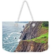 Rugged Oregon Coast On A Foggy Day Weekender Tote Bag