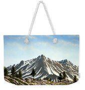 Rugged Peaks Weekender Tote Bag