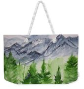 Ruidoso Nm Southwestern Mountain Landscape Watercolor Painting Poster Print Weekender Tote Bag