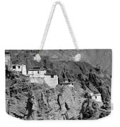 Ruins And Basgo Monastery Surrounded With Stones And Rocks Ladakh Weekender Tote Bag