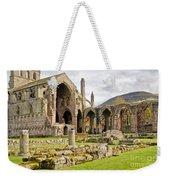 Ruins. Melrose Abbey. Weekender Tote Bag