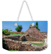 Ruins Of The Ancient City Of Side Weekender Tote Bag