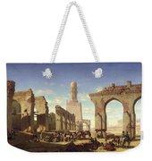 Ruins Of The Mosque Of The Caliph El Haken In Cairo Weekender Tote Bag by Prosper Georges Antoine Marilhat
