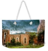 Ruins Under Stormy Clouds Weekender Tote Bag