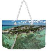 Rum Point Beach Panoramic Weekender Tote Bag
