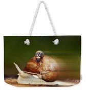 Runaway Snail Weekender Tote Bag