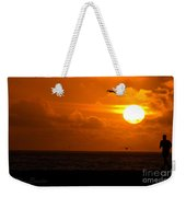 Running By Dusk Weekender Tote Bag