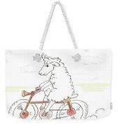 Running Cyclist Cheep Weekender Tote Bag