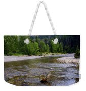 Running Eagle Creek Glacier National Park Weekender Tote Bag