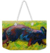 Running Free - Black Bear Cub Weekender Tote Bag