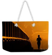 Running Girl Weekender Tote Bag