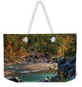 Running Into Autumn Weekender Tote Bag