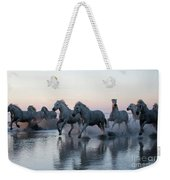 Running Into The Sunset Weekender Tote Bag