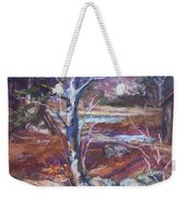 Running Upstream Weekender Tote Bag