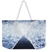 Running Water On Black Background Weekender Tote Bag