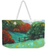 Rural Autumn Landscape Weekender Tote Bag