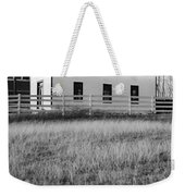 Rural Church Black And White Weekender Tote Bag