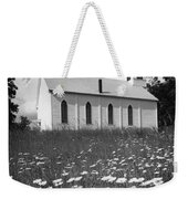 Rural Church In Field Of Daisies Weekender Tote Bag