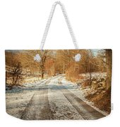 Rural Country Road Weekender Tote Bag