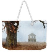 Rural Farmhouse And Large Tree Weekender Tote Bag