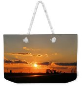 Rural Il Sunset Reflections Weekender Tote Bag
