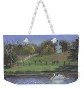 Rural Landscape Painting Of Bauer Farm Weekender Tote Bag
