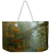 Rural Road In North Carolina With Autumn Colors Weekender Tote Bag