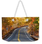 Rural Road Running Along The Maple Trees In Autumn 2 Weekender Tote Bag