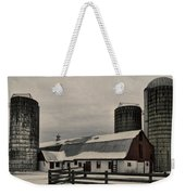 Rural Winter Weekender Tote Bag
