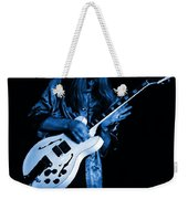 Rush 77 #15 Enhanced In Blue Weekender Tote Bag