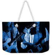 Rush 77 #46 Enhanced In Blue Weekender Tote Bag
