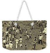 Rush Hour - Antique Sepia Weekender Tote Bag