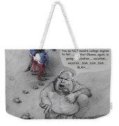 Rush Limbaugh After Obama  Weekender Tote Bag by Ylli Haruni
