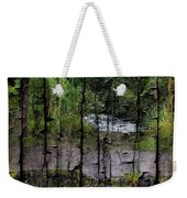 Rushing Cascade In The Andes - On Bark Weekender Tote Bag