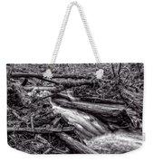 Rushing Stream - Bw Weekender Tote Bag